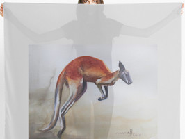 Red kangaroo scarf